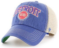 Detroit Pistons Men's 47 Brand Tuscaloosa Clean Up Vintage Adjustable Hat