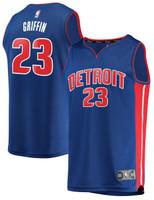 Detroit Pistons Men's Fanatics Blake Griffin Road Jersey - Blue