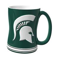Michigan State University Boelter Brands Sculpted Coffee Mug - Green (14 oz)