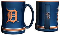 Detroit Tigers Boelter Brands Sculpted Coffee Mug - Blue (14 oz)