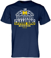 University of Michigan 2018 Big Ten Men's Basketball Conference Tournament Champions Locker Room T-Shirt