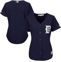 Detroit Tigers Women's Majestic Navy Cool Base Jersey