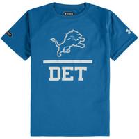 Detroit Lions Youth Under Armour Blue Combine T-Shirt
