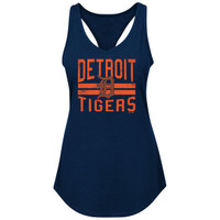 Detroit Tigers Women's Majestic Four Seamer Tank Top
