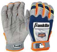 Detroit Tigers Adult Large Franklin Sports Gray/Navy Franklin CFX Pro Signature Series Batting Gloves