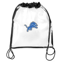 Detroit Lions Forever Collectibles Clear Drawstring Bag