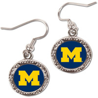 University of Michigan Wincraft Dangle Circle Earrings