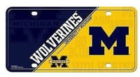 University of Michigan Rico Industries Metal License Plate