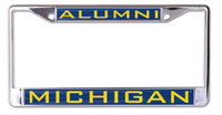 University of Michigan Wincraft Alumni Chrome Auto License Plate Frame