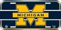 University of Michigan Wincraft Plastic License Plate