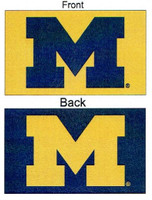 University of Michigan Sewing Concepts 3x5 Silk Screened Double Sided Flag