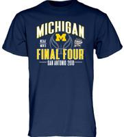 University of Michigan Men's Blue 84 2018 Final Four Tshirt