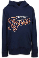 Detroit Tigers Youth Outerstuff Navy Wordmark Pullover Hoodie