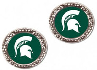 Michigan State University Wincraft Post Circle Earrings