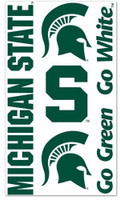 Michigan State University Wincraft Temporary Tattoos
