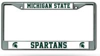 Michigan State University Rico Industries Chrome Auto License Plate Frame