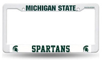 Michigan State University Rico Industries Plastic Auto License Plate Frame