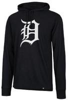 Detroit Tigers Men's 47 Brand Imprint Splitter Hooded Long Sleeve Tshirt
