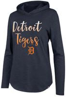 Detroit Tigers Women's 47 Brand Club Hooded Long Sleeve Tshirt