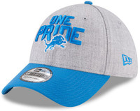 Detroit Lions New Era Heather Gray/Blue 2018 NFL Draft Official On-Stage 39THIRTY Flex Hat