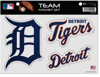 Detroit Tigers Rico Industries Glitter Car Magnet Sheet Set