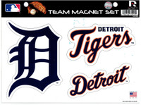 Detroit Tigers Rico Industries Car Magnet Sheet Set