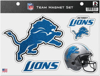 Detroit Lions Rico Industries Glitter Car Magnet Sheet Set