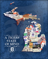 """Detroit Tigers That's My Ticket """"A Tigers State Of Mind"""" Wooden Sign"""