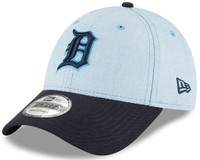 Detroit Tigers New Era Light Blue 2018 Father's Day 9FORTY Adjustable Hat