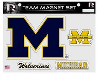 University of Michigan Rico Industries Glitter Car Magnet Sheet Set