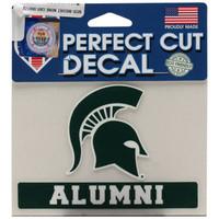 "Michigan State University Wincraft ""Alumni"" Perfect Cut 4""x5"" Decal"