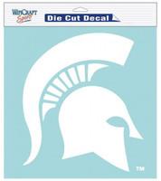 "Michigan State University Wincraft Perfect Cut 8""x8"" White Decal"