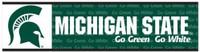"Michigan State University Wincraft ""Go Green, Go White"" Bumper Sticker"