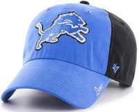 Detroit Lions Women's 47 Brand Black Two Tone Sparkle Adjustable Hat