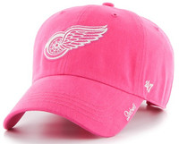 Detroit Red Wings Women's 47 Brand Pink Adjustable Clean Up Hat