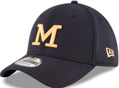 uk availability 974ea ad2b8 ... promo code for university of michigan mens new era 39thirty navy blue  classic harbaugh flex hat