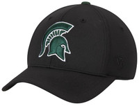 "Michigan State University Men's Top of the World ""Black Rails"" FlexFit Hat"