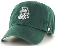 Michigan State University Men's 47 Brand Sparty Head Logo Clean Up Adjustable Hat