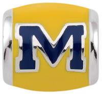 University of Michigan Teagan Collection by persona Blue Block M/Maize Charm
