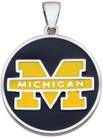 University of Michigan Teagan Collection by persona Maize Block M/Blue Pendant