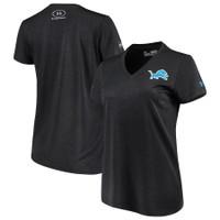 Detroit Lions Women's Under Armour Combine Authentic Novelty Performance V-Neck T-Shirt - Black