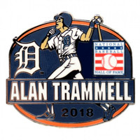 Detroit Tigers Alan Trammell Baseball Hall of Fame 2018 Induction Collector Pin