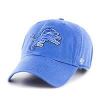 Detroit Lions Men's 47 Brand Clean Up Blue Raz Adjustable Hat