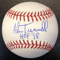 "Alan Trammell Autographed Baseball - Official Major League Ball Inscribed ""HOF 18"""