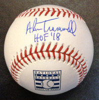 "Alan Trammell Autographed Baseball - Hall of Fame Logo Ball Inscribed ""HOF 18"""