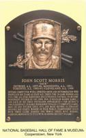 """Jack Morris Autographed Hall of Fame Plaque Postcard Inscribed """"HOF 18"""" (Pre-Order)"""