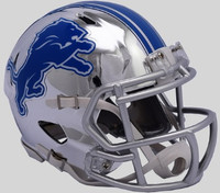 Detroit Lions Riddell 2018 Chrome Speed Mini Football Helmet