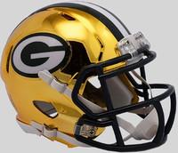 Green Bay Packers Riddell 2018 Chrome Speed Mini Football Helmet