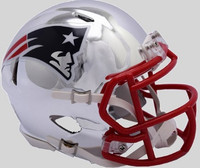 New England Patriots Riddell 2018 Chrome Speed Mini Football Helmet