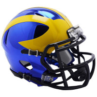 University of Michigan Riddell Chrome Alternate Speed Mini Football Helmet